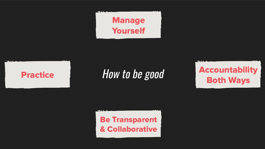 How to be good Be Transparent & Collaborative M...