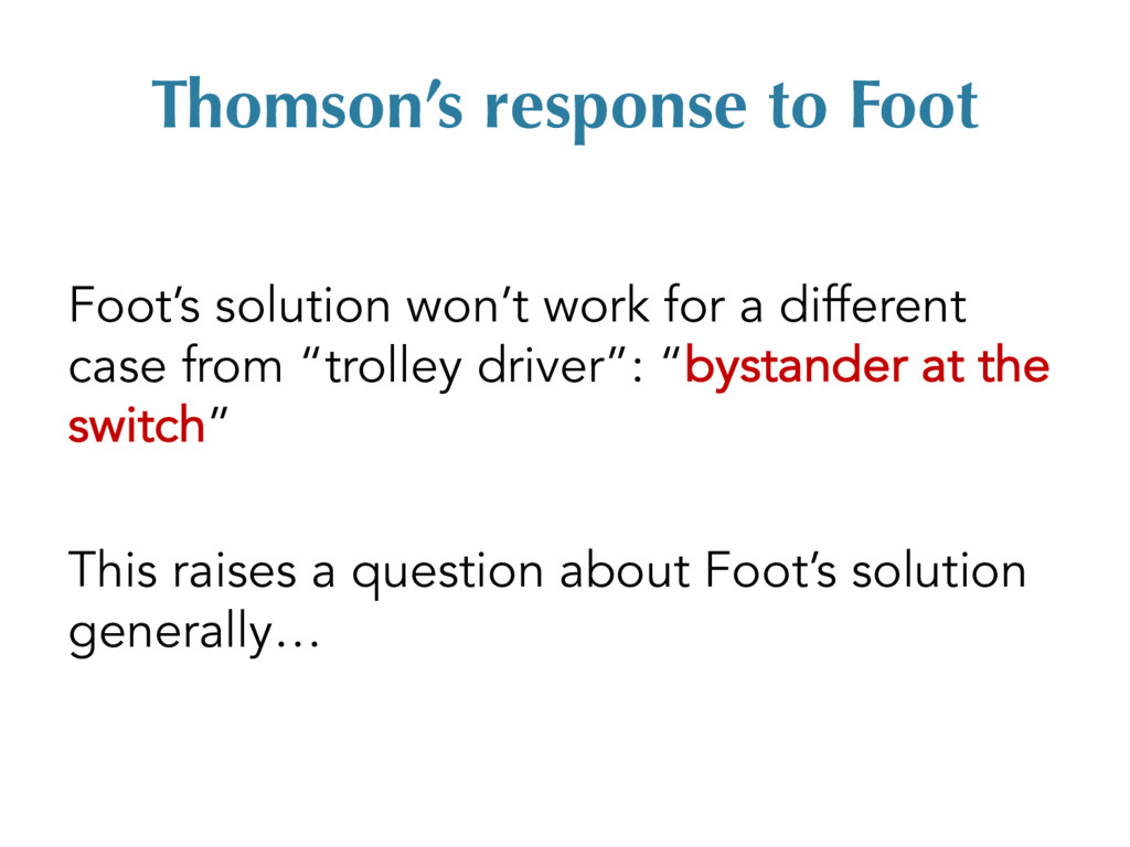Thomson's response to Foot Foot's solution won'...