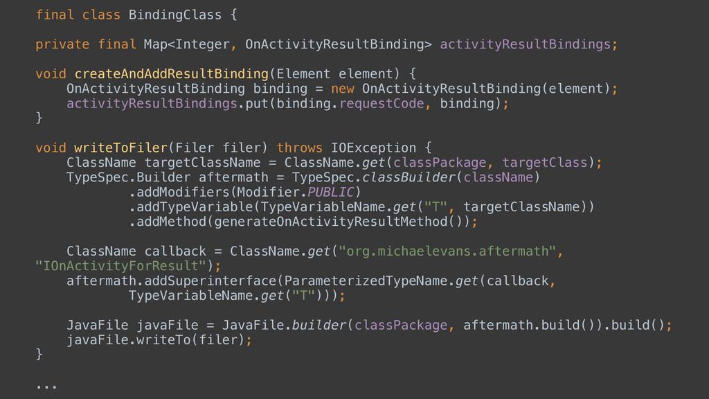 final class BindingClass { private final Map<In...