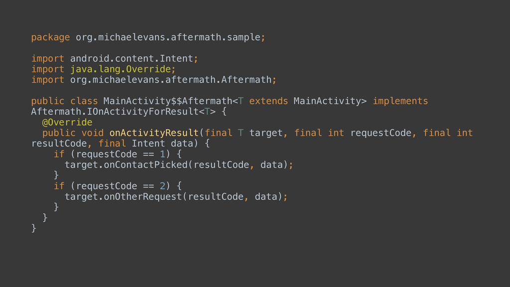 package org.michaelevans.aftermath.sample;  i...