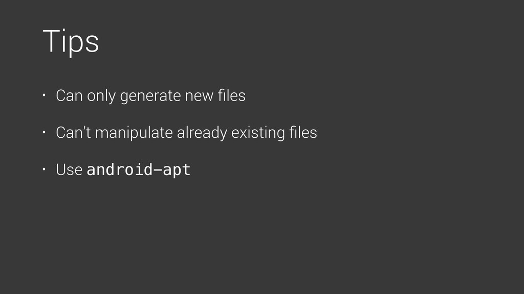 • Can only generate new files • Can't manipulate...