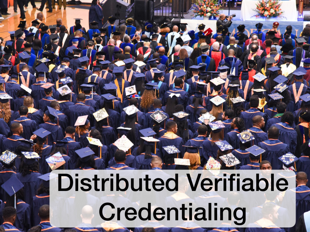 Distributed Verifiable Credentialing