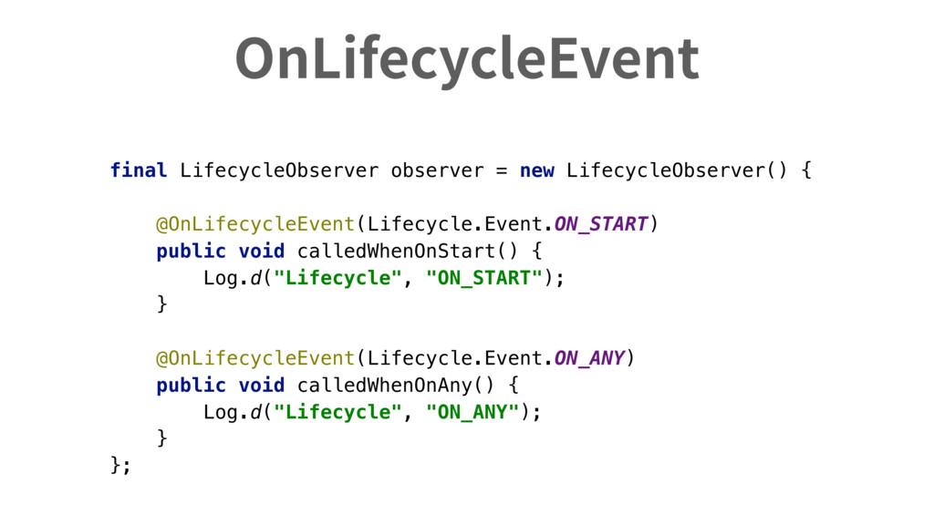 OnLifecycleEvent final LifecycleObserver observ...