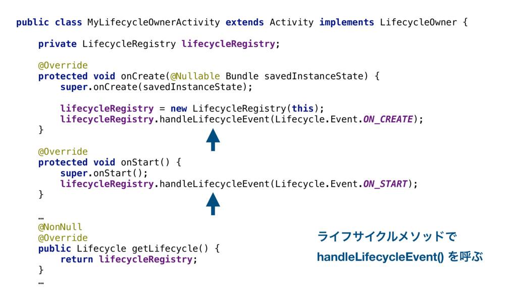 public class MyLifecycleOwnerActivity extends A...