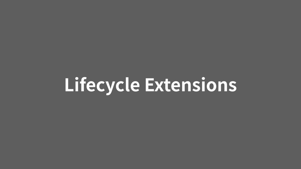 Lifecycle Extensions