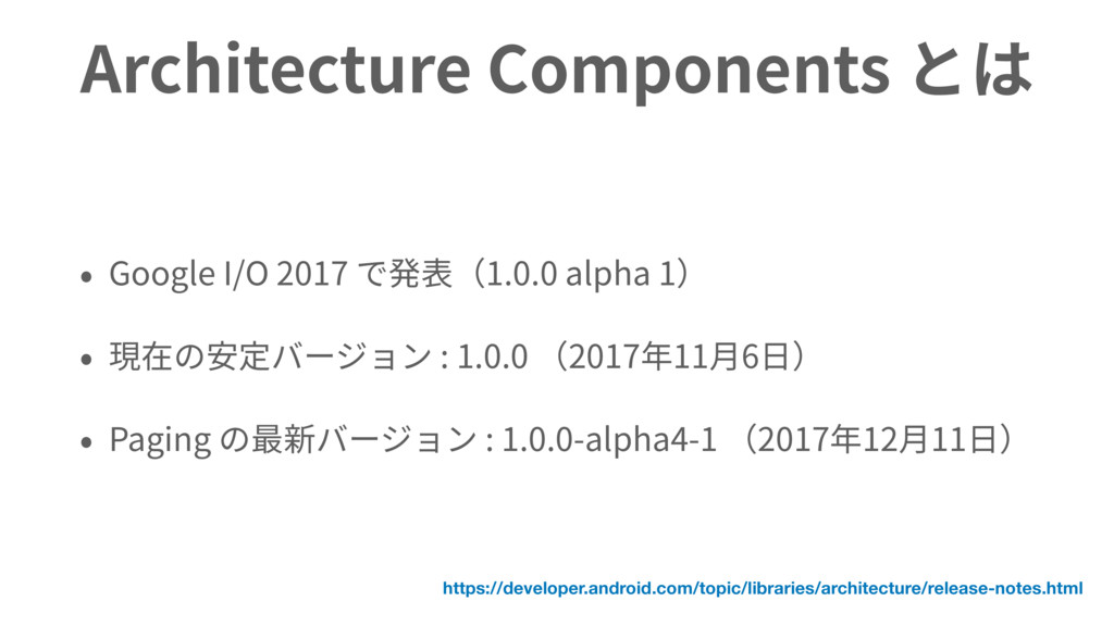 Architecture Components Google I/O 2017 1.0.0 a...
