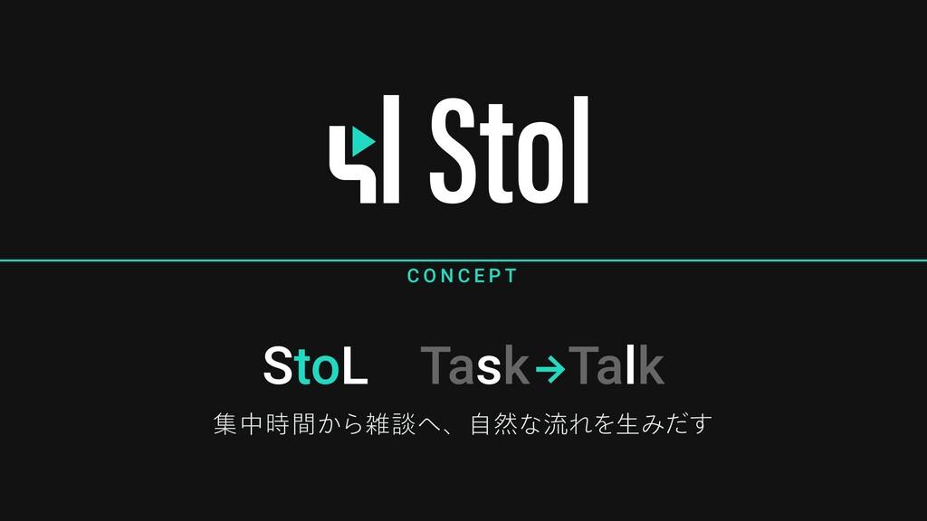StoL Task Talk C O N C E P T ूத͔ؒΒஊɺࣗવͳྲྀΕΛੜΈ...