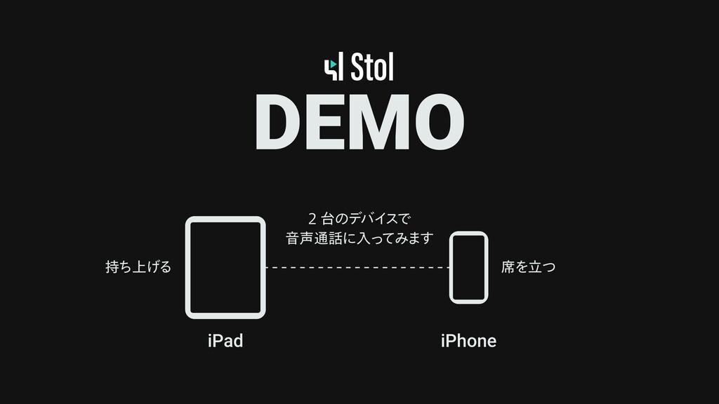 DEMO iPad iPhone  ͷσόΠ εͰ Ի௨ʹೖͬ ͯΈ·͢ ੮Λཱͭ ...