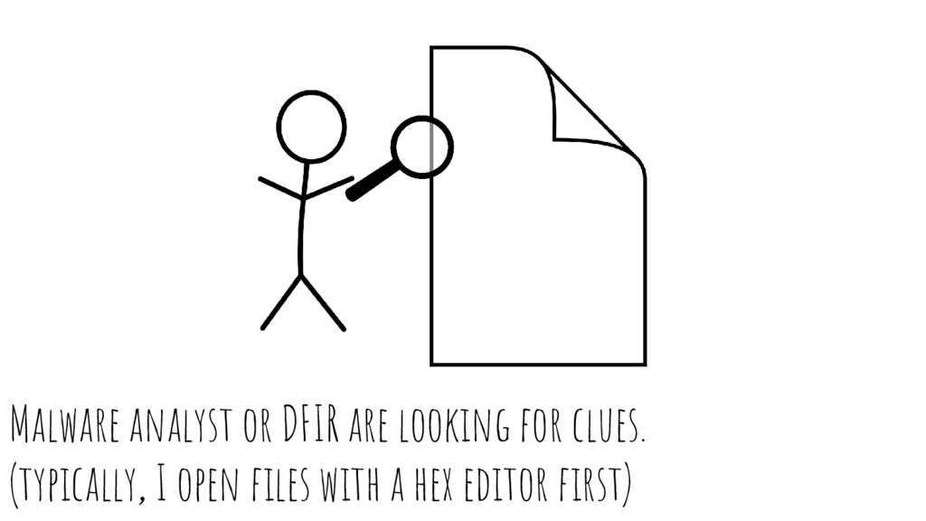 Malware analyst or DFIR are looking for clues. ...