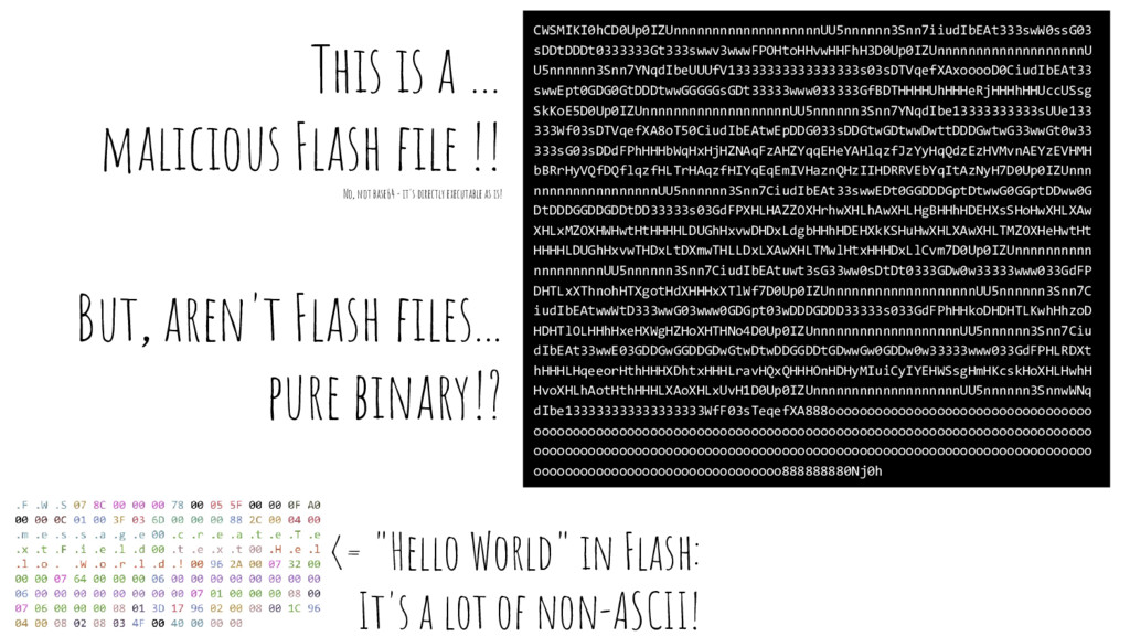 This is a … malicious Flash file !! No, not bas...