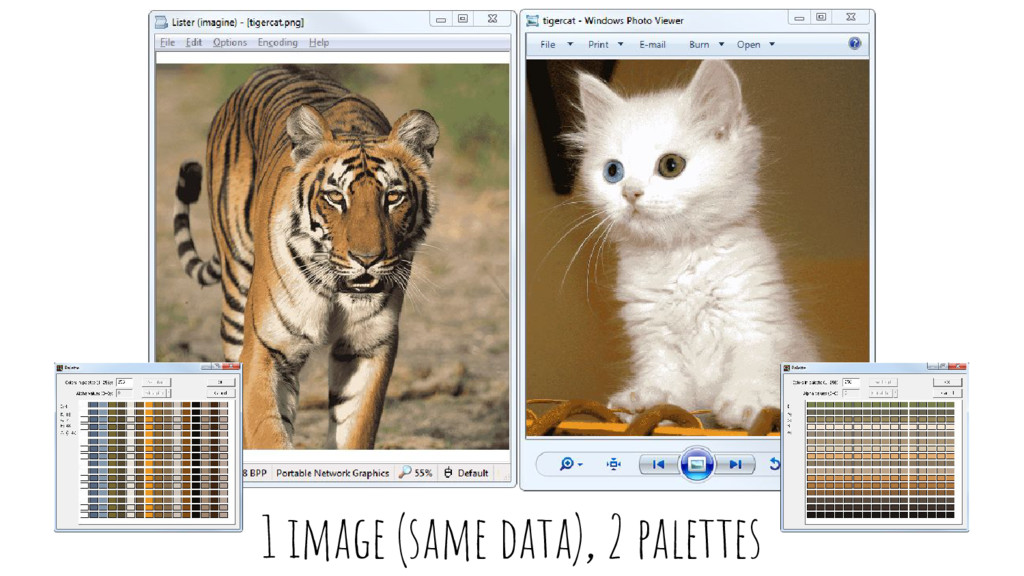 1 image (same data), 2 palettes