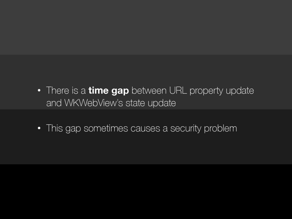 • There is a time gap between URL property upda...