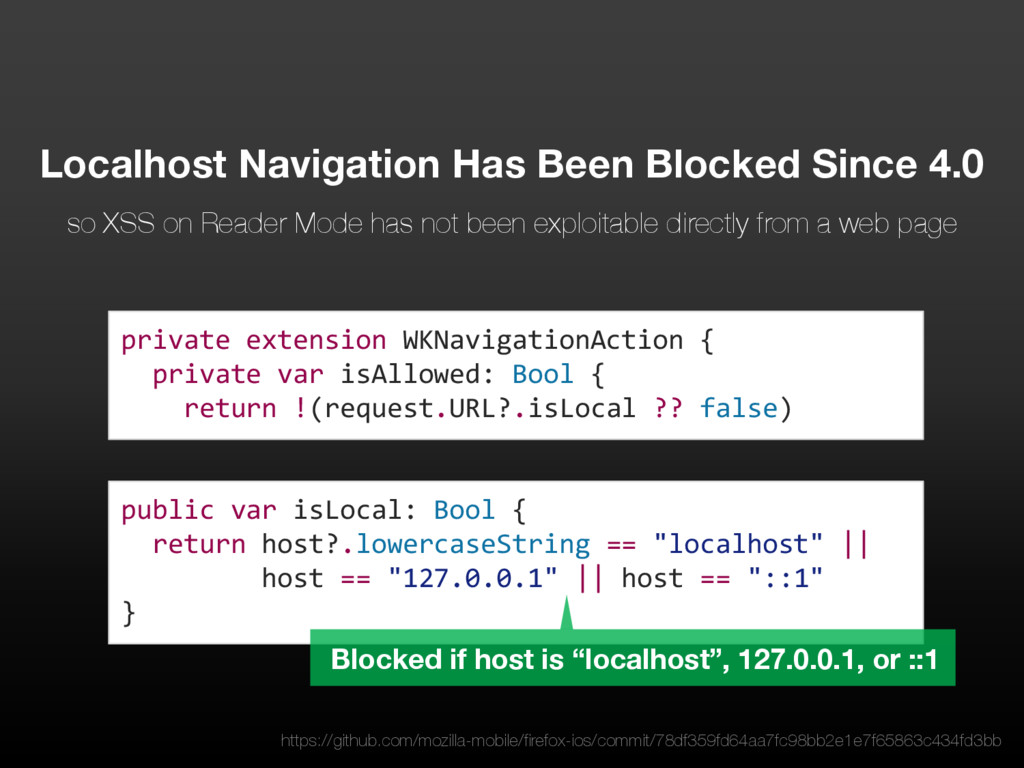 public var isLocal: Bool { return host?.lowerca...