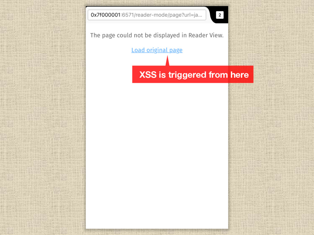 XSS is triggered from here
