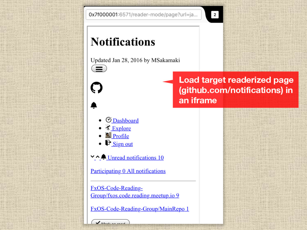 Load target readerized page (github.com/notific...