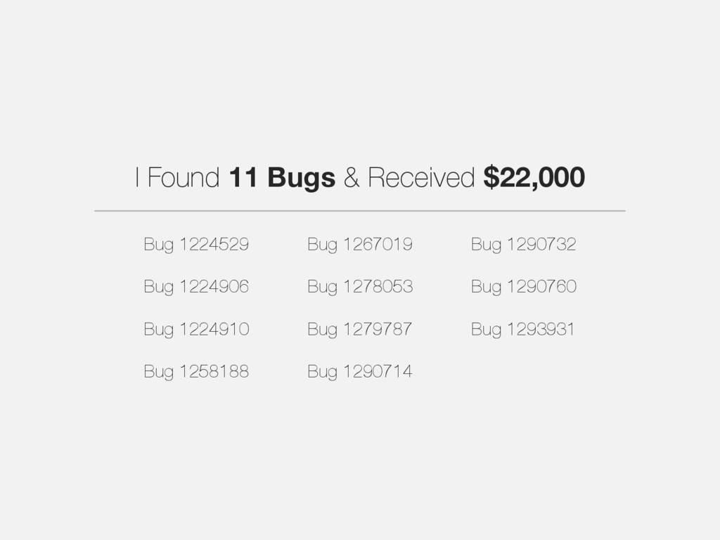 I Found 11 Bugs & Received $22,000 Bug 1224529 ...