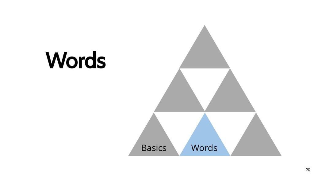 Basics Words Words Words 20