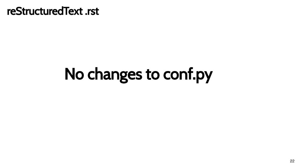 No changes to conf.py No changes to conf.py reS...
