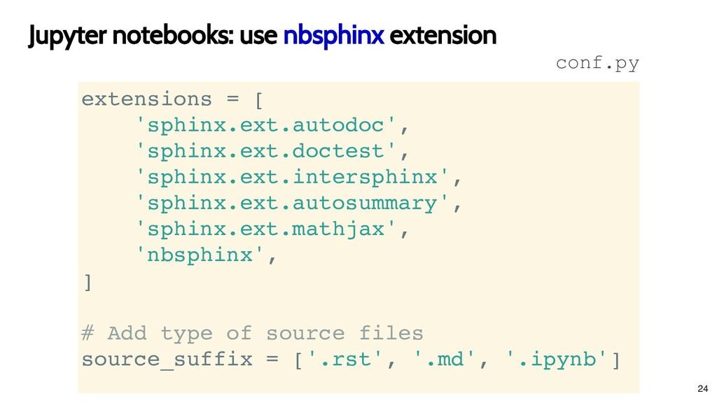 Jupyter notebooks: use Jupyter notebooks: use n...