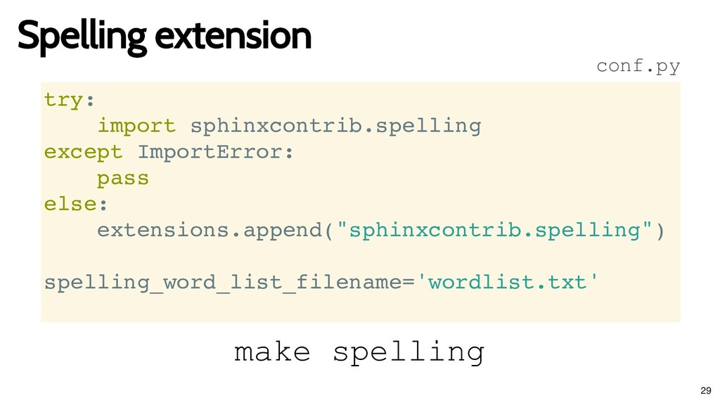Spelling extension Spelling extension try: impo...