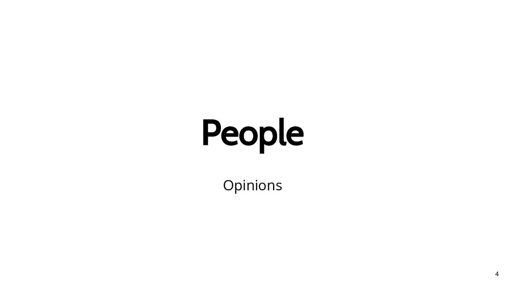 People People Opinions 4