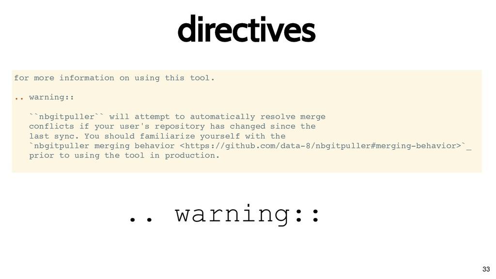 directives directives for more information on u...