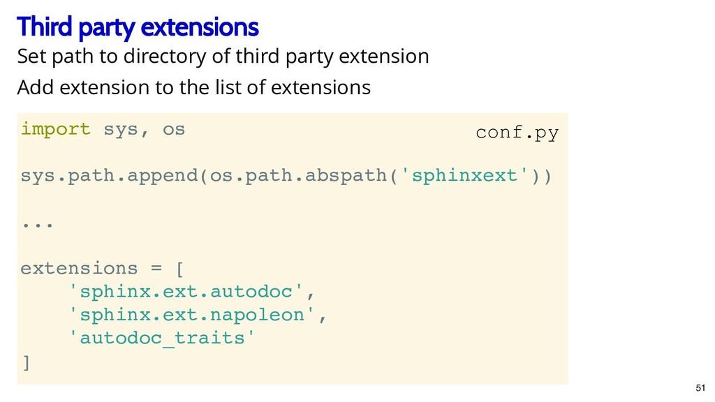 Third party extensions Third party extensions i...