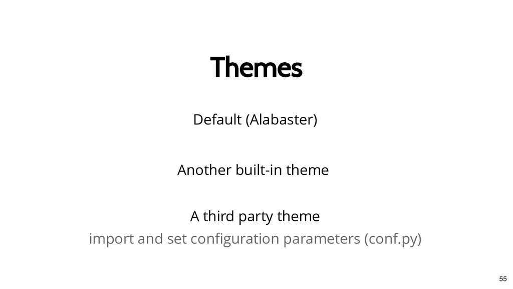 Themes Themes Another built-in theme Default (A...