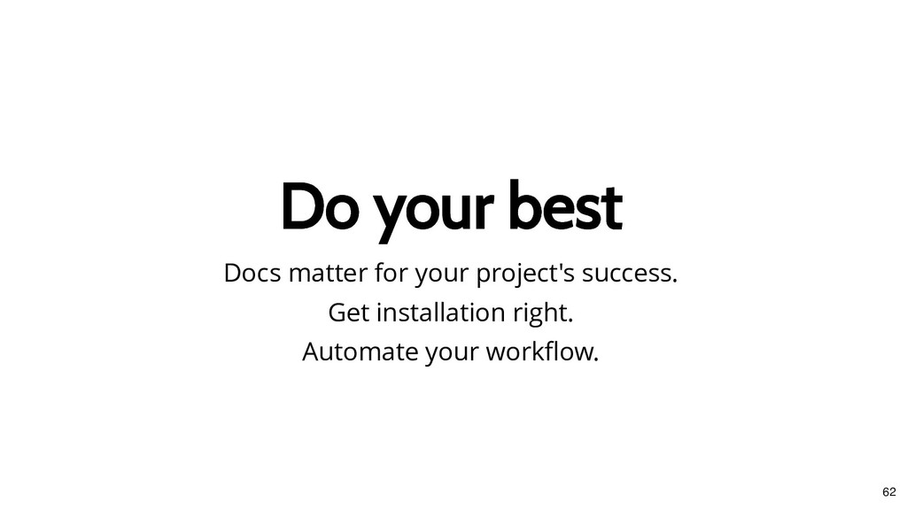 Do your best Do your best Docs matter for your ...