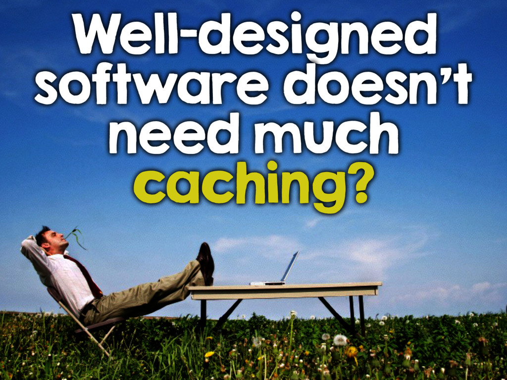 Well-designed software doesn't need much cachin...