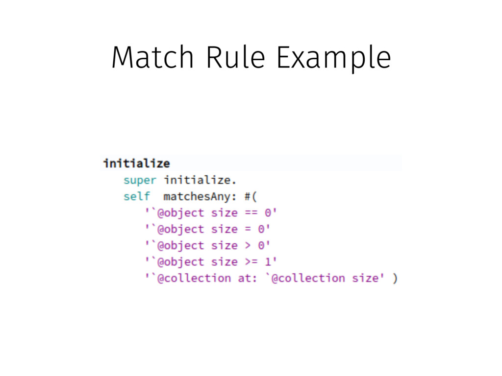Match Rule Example