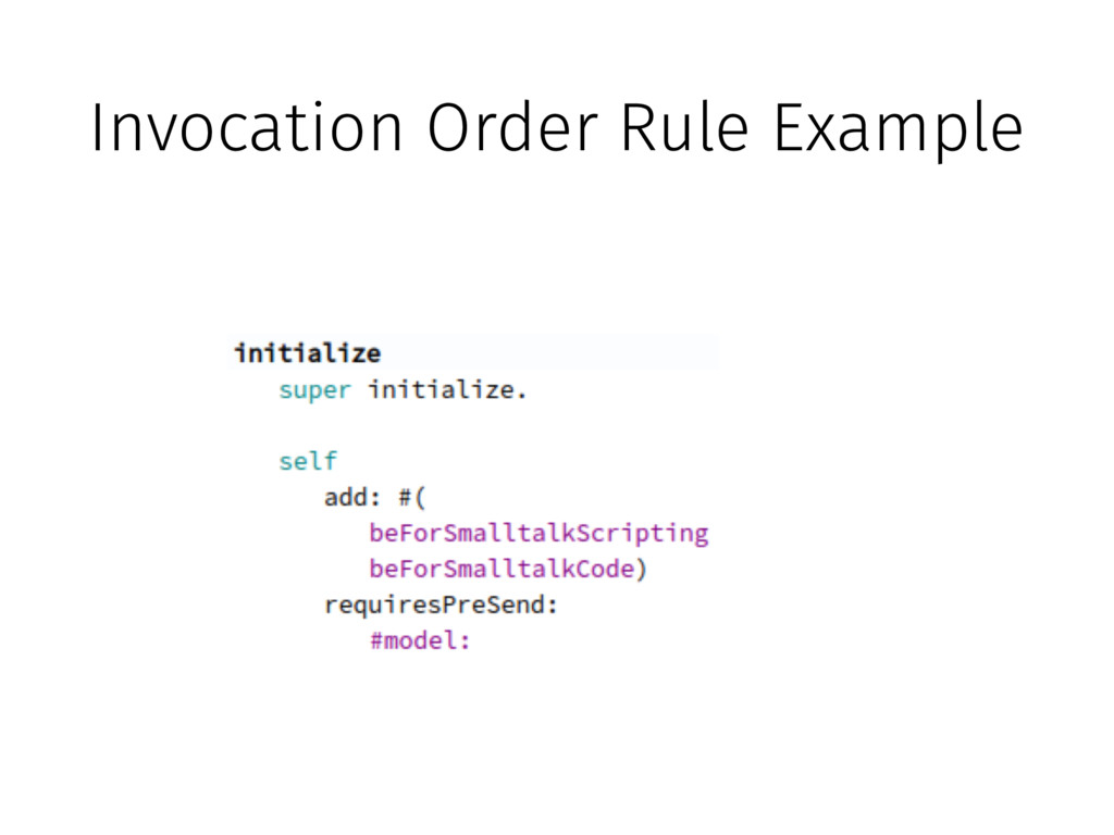 Invocation Order Rule Example