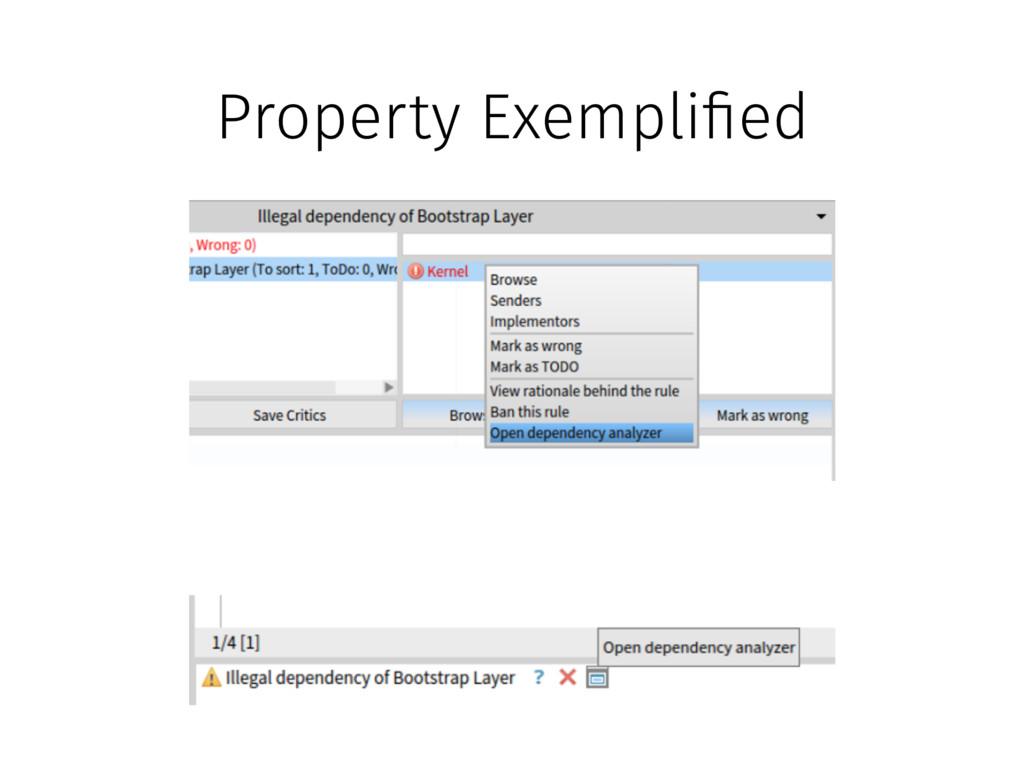 Property Exempli!ed