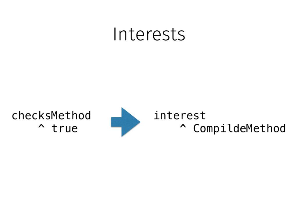 Interests checksMethod ^ true interest ^ Compil...