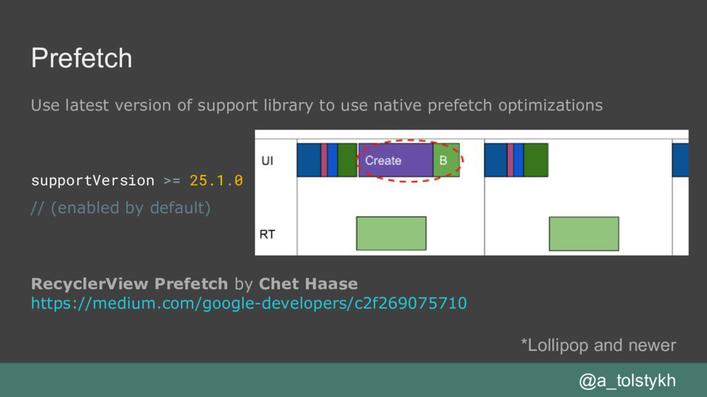 Prefetch Use latest version of support library ...