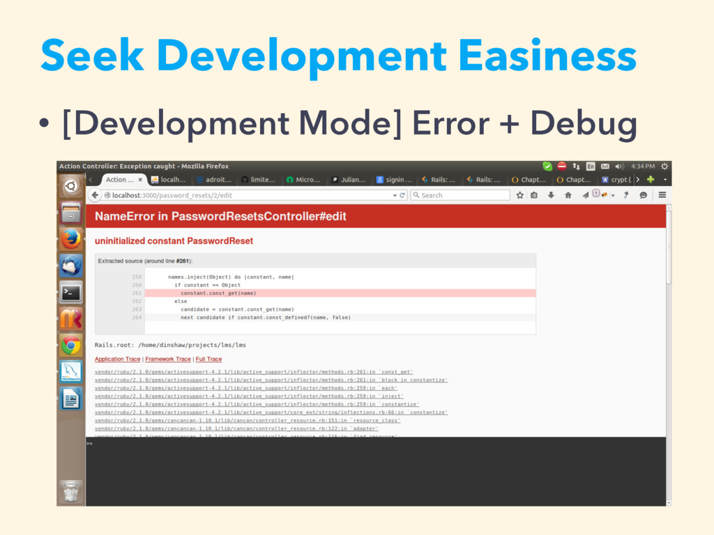 • [Development Mode] Error + Debug Seek Develop...