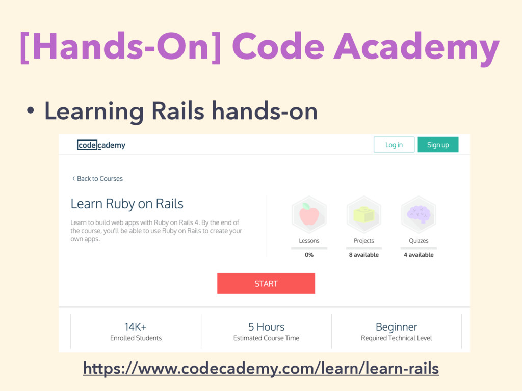 [Hands-On] Code Academy https://www.codecademy....