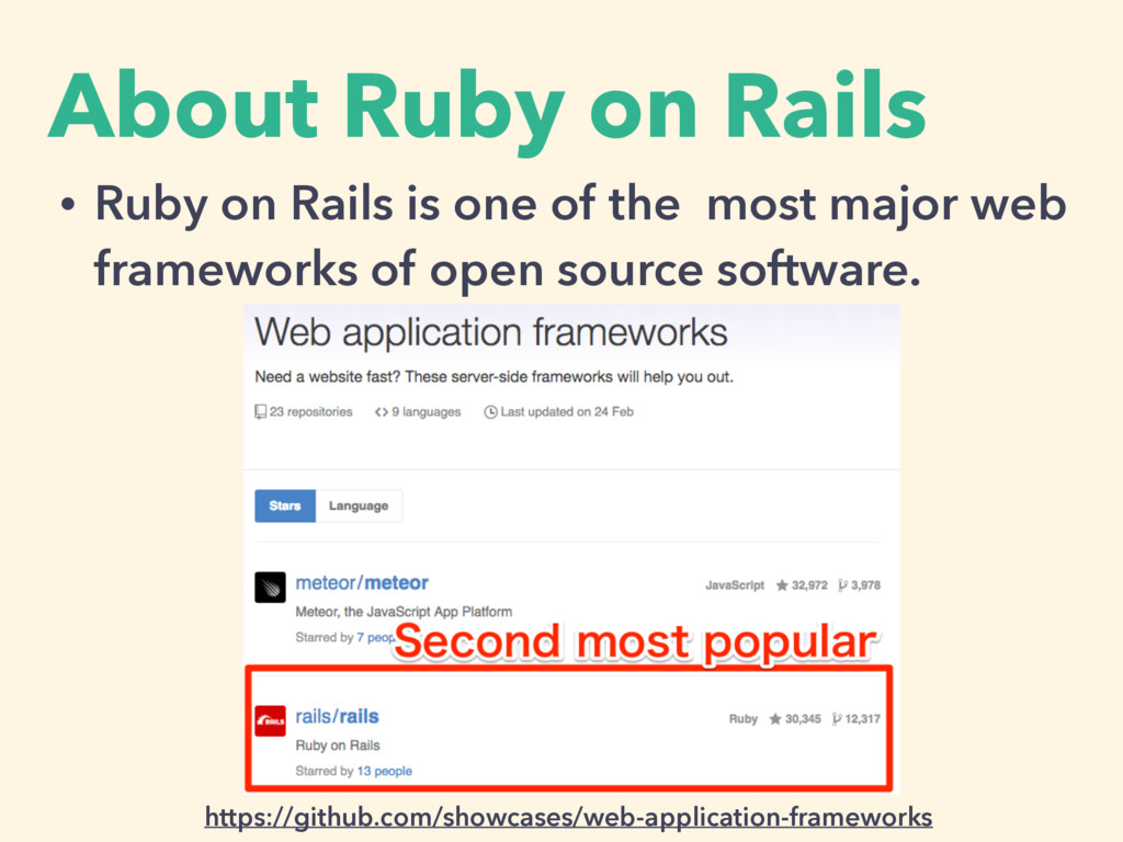 About Ruby on Rails • Ruby on Rails is one of t...