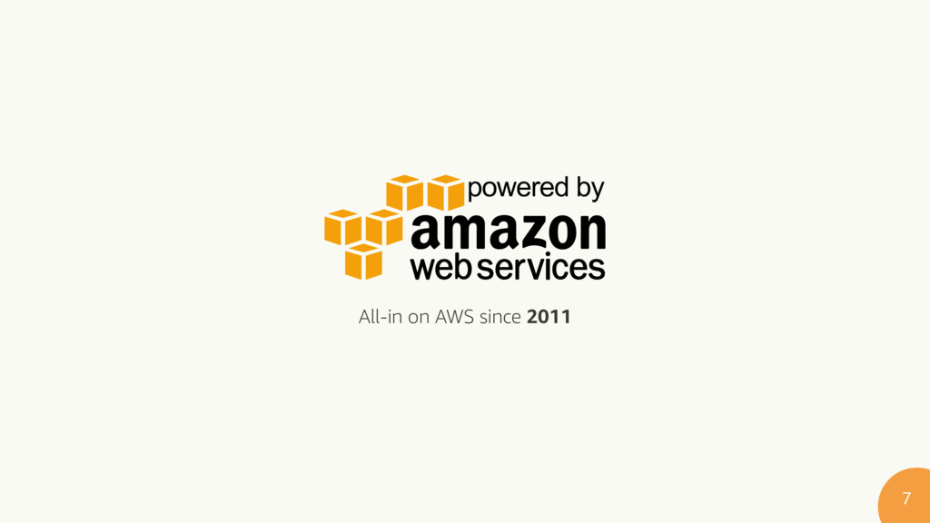 All-in on AWS since 2011