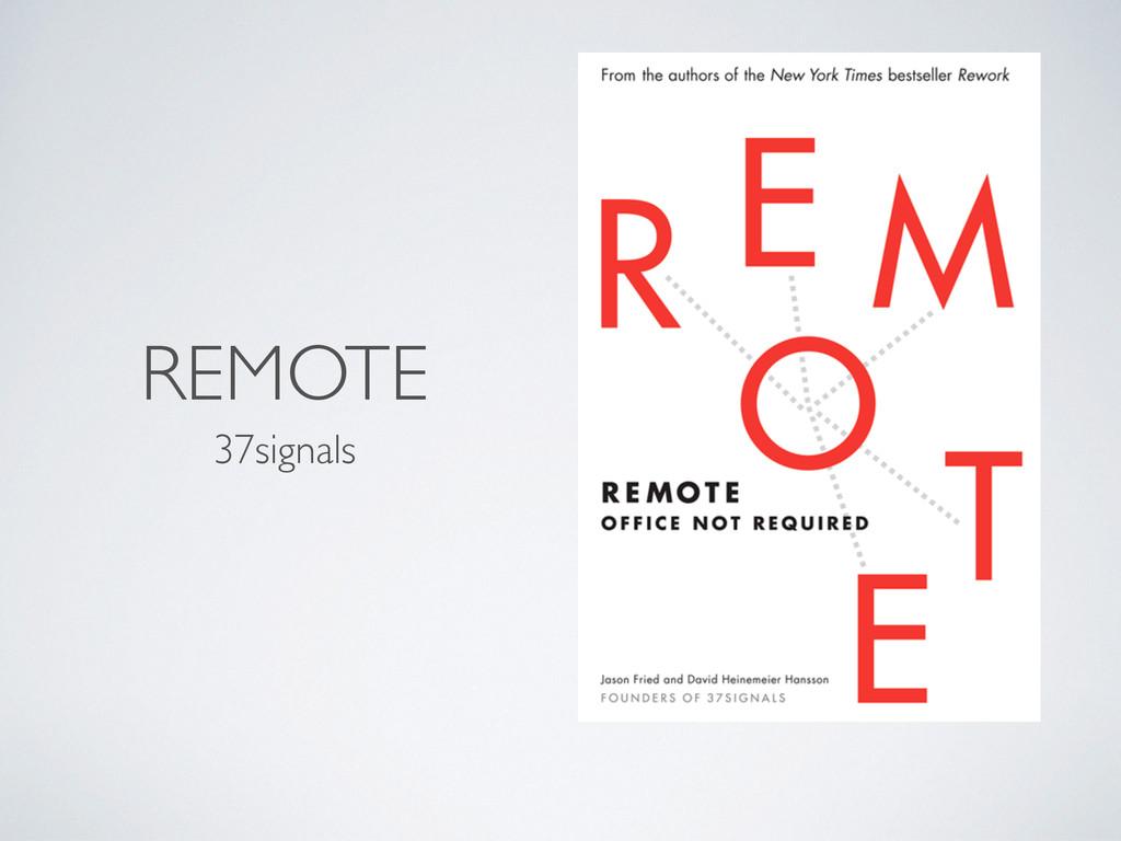 REMOTE 37signals