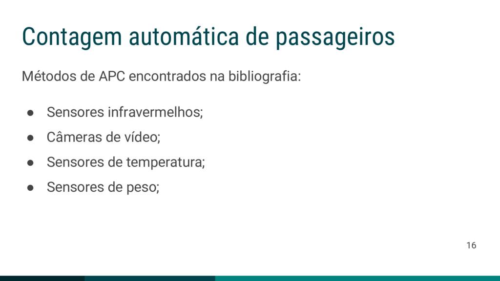 Contagem automática de passageiros Métodos de A...
