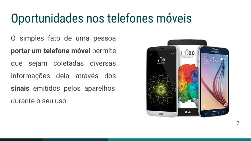 Oportunidades nos telefones móveis O simples fa...
