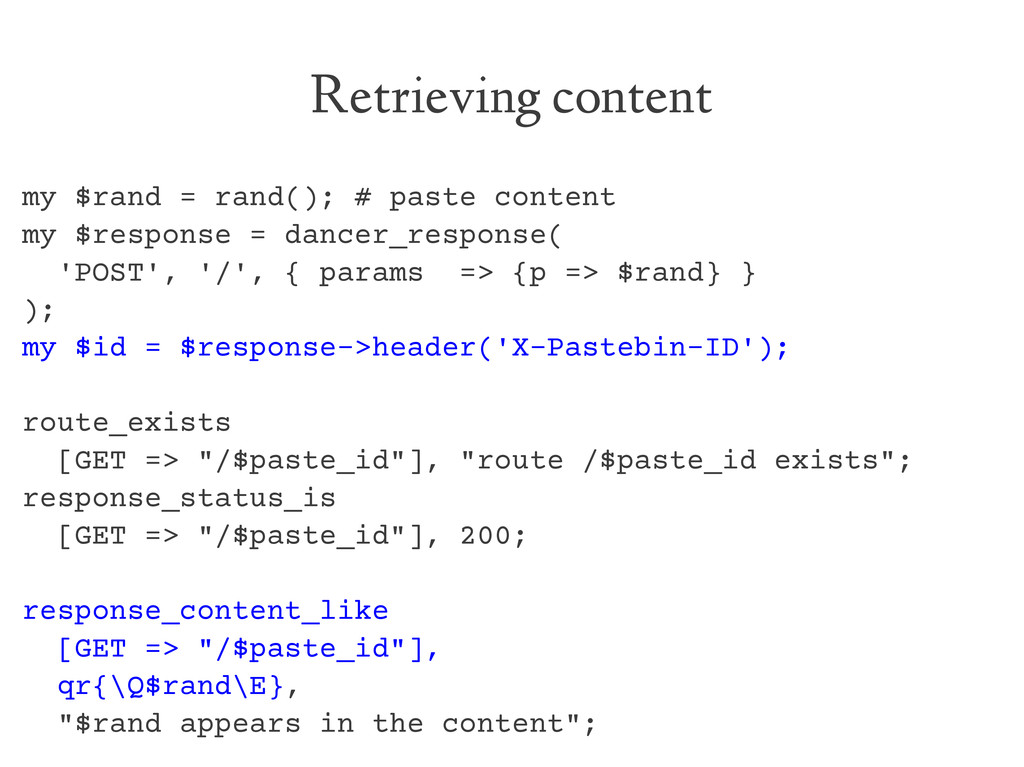 Retrieving content my $rand = rand(); # paste c...