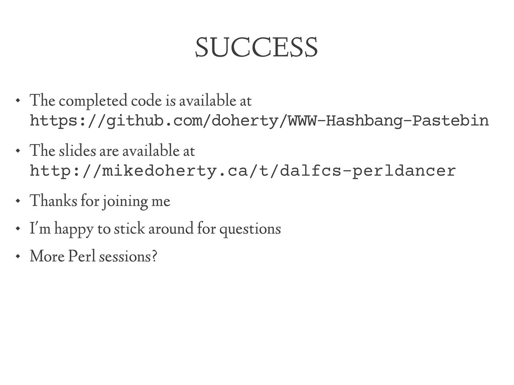 SUCCESS  The completed code is available at ht...
