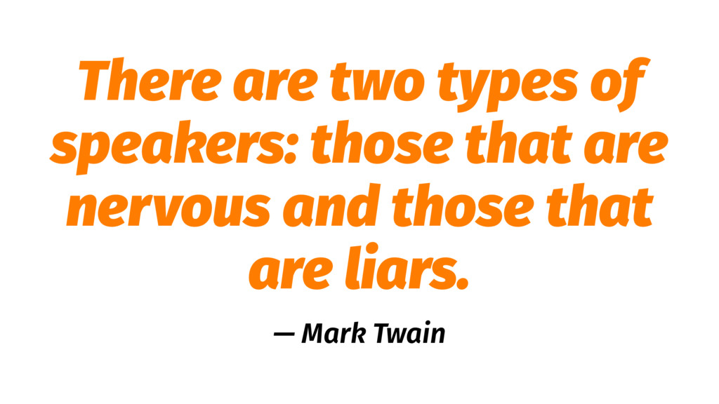 There are two types of speakers: those that are...