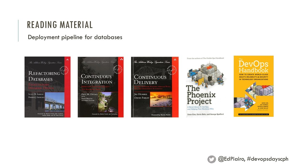 READING MATERIAL Deployment pipeline for databa...