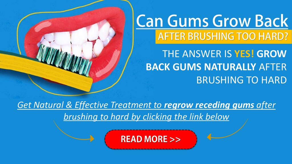 THE ANSWER IS YES! GROW BACK GUMS NATURALLY AFT...