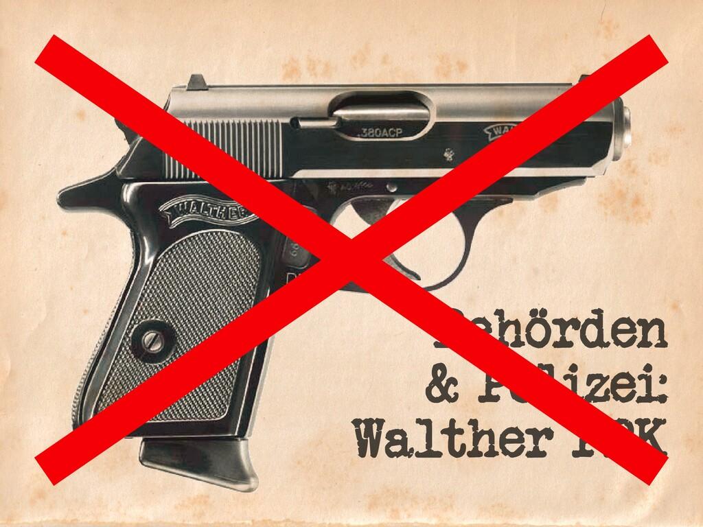 Behörden & Polizei: Walther PPK