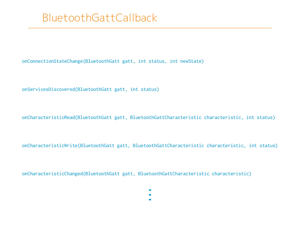BluetoothGattCallback onConnectionStateChange(B...