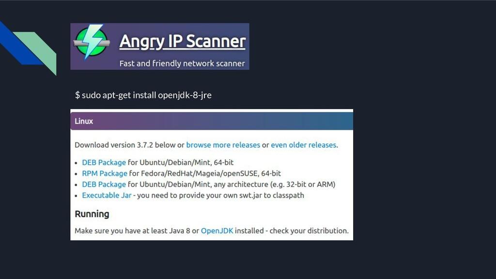 $ sudo apt-get install openjdk-8-jre